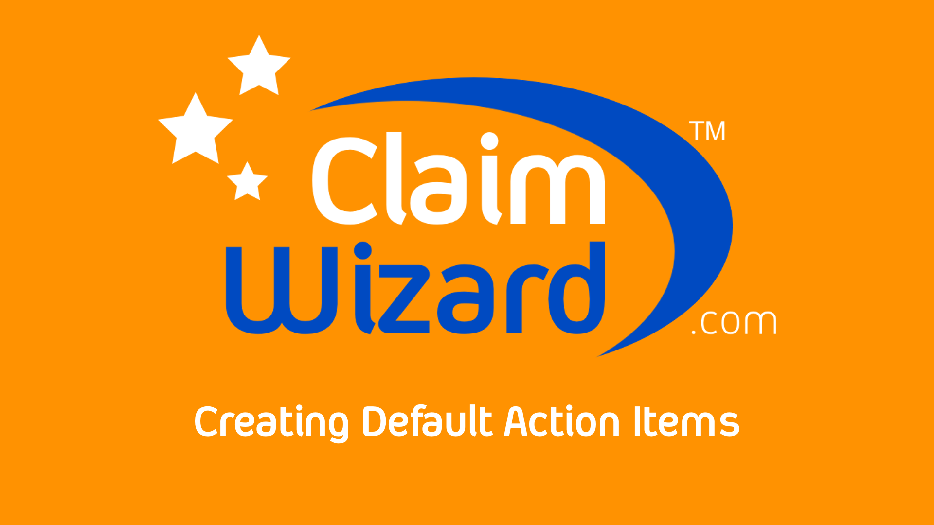 Create Default Action Items