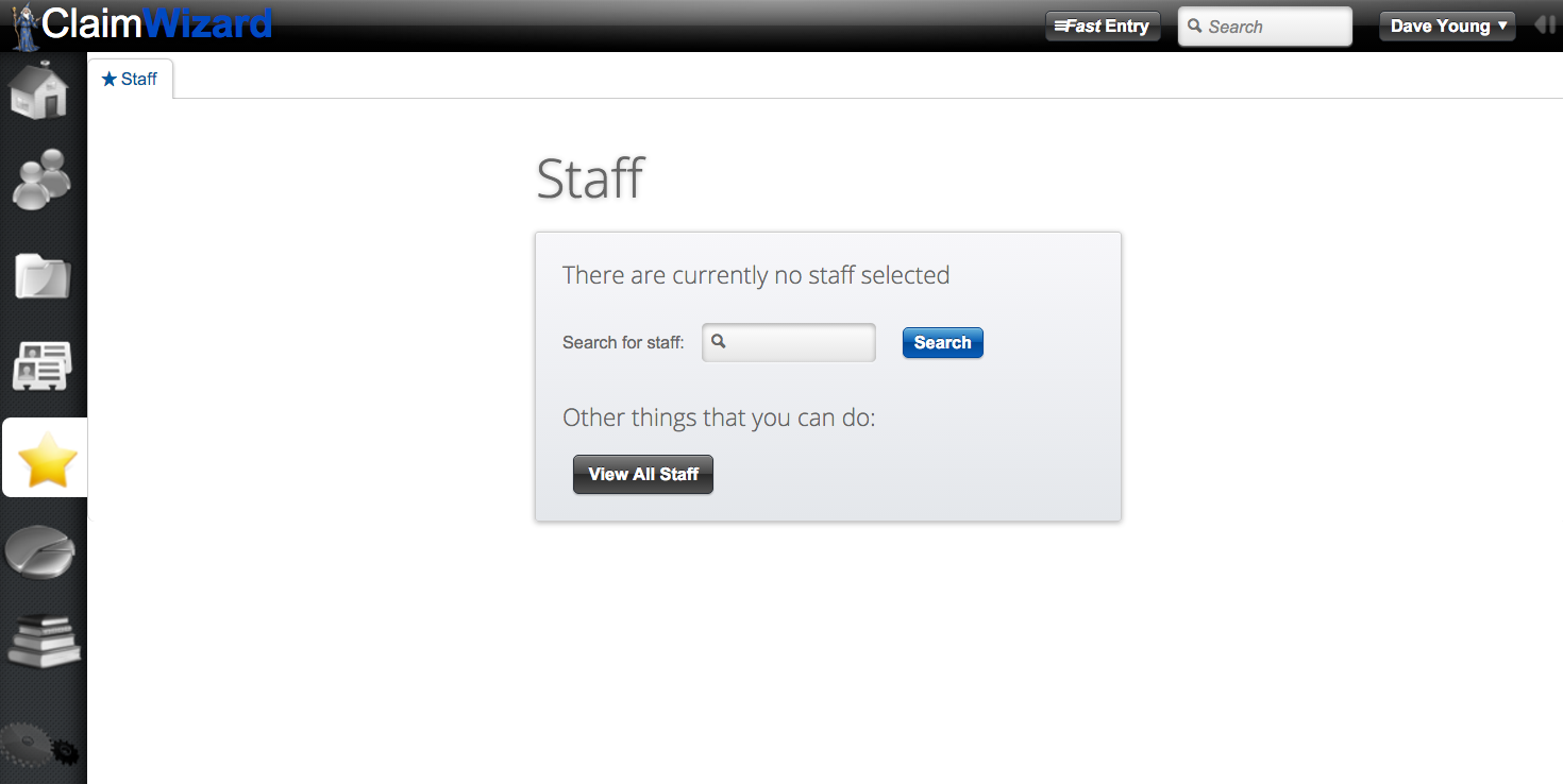 ClaimWizard - Staff Tab